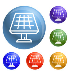 solar panel icons set vector image
