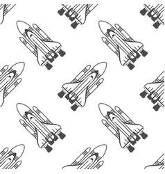 spaceship background vector image