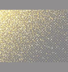 sparkling golden glitter with bokeh lights vector image