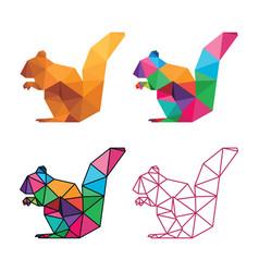 squirrel low poly design vector image