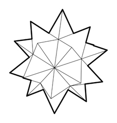 Ten pointed star icon outline style vector