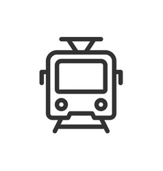tram front view outline style icon vector image