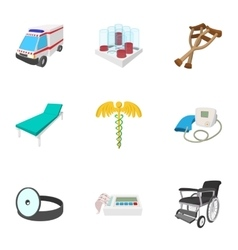 Treatment icons set cartoon style vector image