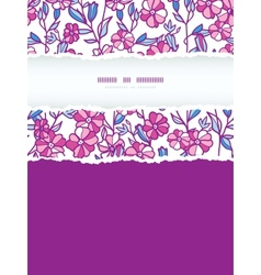 Vibrant field flowers vertical torn frame seamless vector