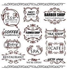 Vintage badges for shops vector