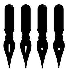 Vintage ink pen nibs vector