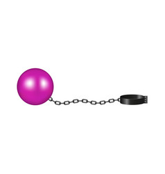 Vintage shackle in pink and black design vector
