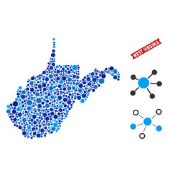 West virginia state map connections composition vector