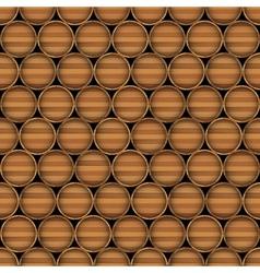 Wooden barrels vector