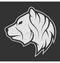 Bear symbol the logo for dark background vector image vector image