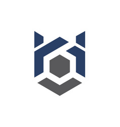 modern logo solution letter h b vector image vector image