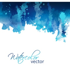 Abstract watercolor header background vector