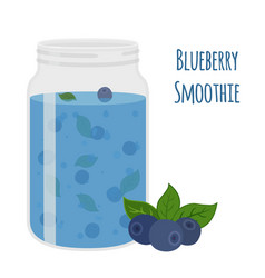 blueberry smoothie vegetarian organic detox drink vector image