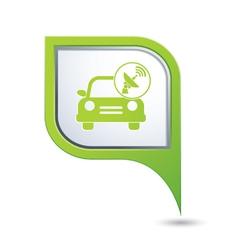 cars satelite GREEN pointer vector image vector image