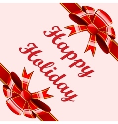 Red bows holiday background vector image
