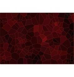 Red mosaic composition vector image vector image