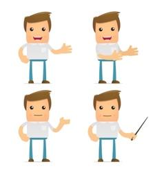 set of funny cartoon casual man vector image vector image