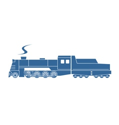 Steam locomotive with tender vector
