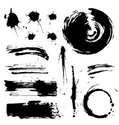 grunge blots and splash silhouette vector image vector image