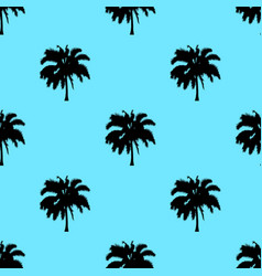 palm tree pattern seamless texture isolated on vector image vector image