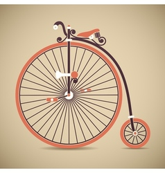 Penny Farthing Old Style Antique Bicycle vector image vector image