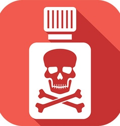 Poison Bottle Icon vector image vector image