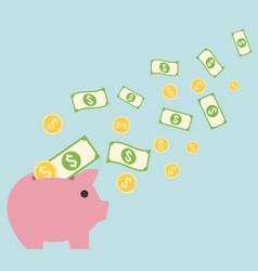 saving money concept vector image