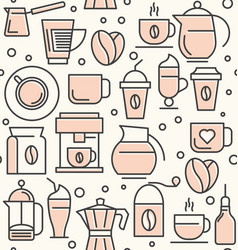 coffee and coffee equipment seamless pattern vector image vector image