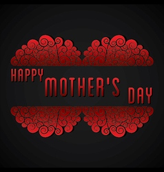 creative happy mothers day greeting card design vector image