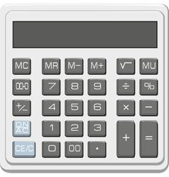 desktop office calculator with lcd display vector image vector image