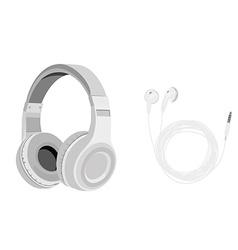 Headphones and earphones vector image vector image