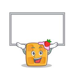 up board waffle character cartoon design vector image vector image