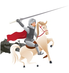 2288 Knight with lance on horseback vector