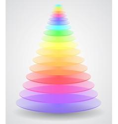 Abstract creative pyramid vector