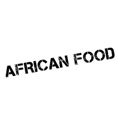 African Food rubber stamp vector
