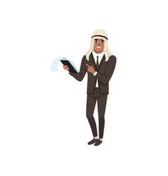 arabic businessman character in formal wear vector image