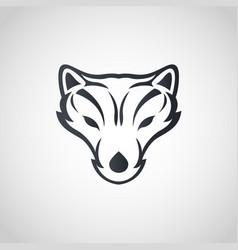Arctic fox logo icon design vector