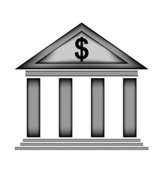 Bank sign icon vector
