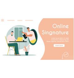 banner online digital vector image