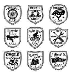 Bicycle badges set With chain wheel vector image