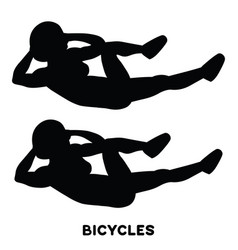 Bicycles elbow to cnee crunches cross body vector