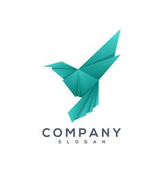 bird origami style logo vector image