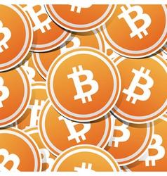 Bitcoin money vector image