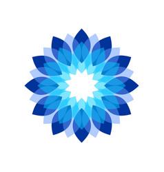 blue flower shades symbol design vector image