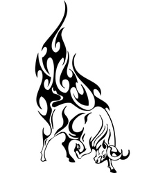 Bull in tribal style - image vector