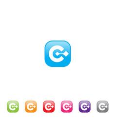 c letter app vector image