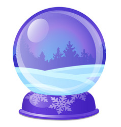 christmas souvenir in form glass ball vector image