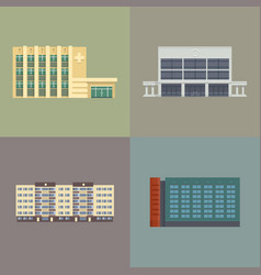 City downtown buildings vector