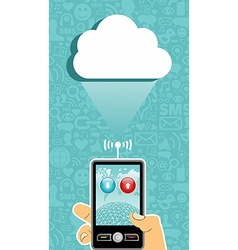 Cloud computing communication vector image