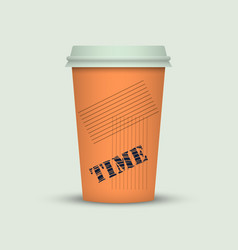 Coffee cup in fresh colors style vector